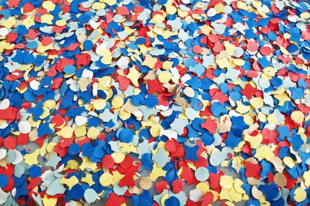 close up of confetti in the background photo