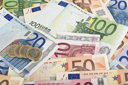 dinero euros: Close-up de dinero del euro Foto de archivo