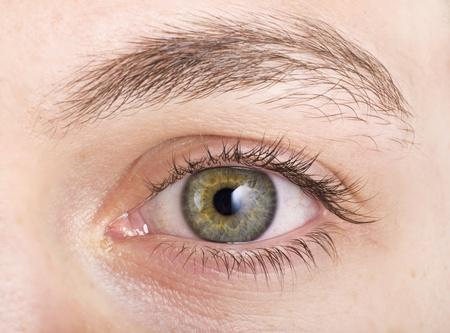 Human eye shooting close up