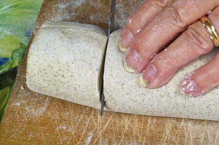 pizzoccheri: Italian homemade pasta with black flour