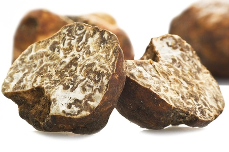 Truffles close up on the white Stock Photo - 10624955
