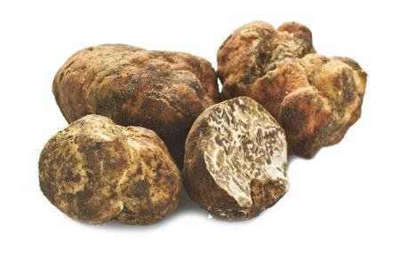 truffe blanche: Truffes gros plan sur le blanc