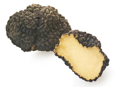 truffe blanche: Truffes de pr�s sur le blanc.