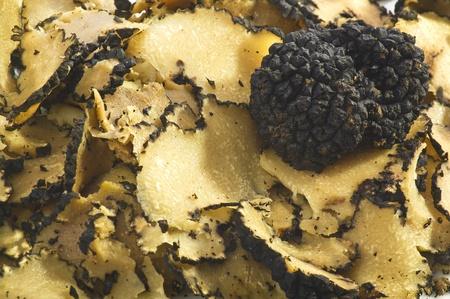 chocolate truffle: Truffles close up on the white