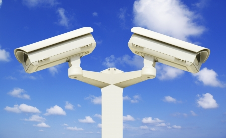 Security camera on the sky background Stock Photo - 10627328