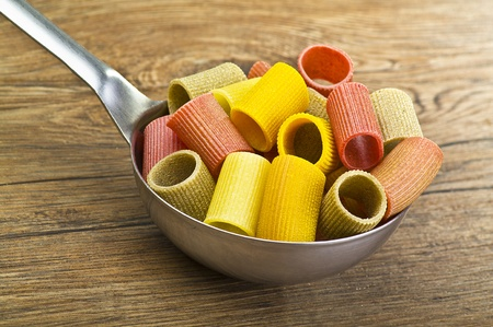 short pasta: Italian Pasta colors flour and vegetable Stock Photo