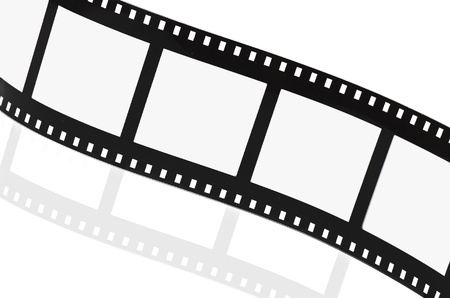film roll: Film strip empty on white Stock Photo
