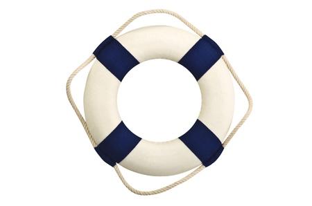 Life buoy on the white photo