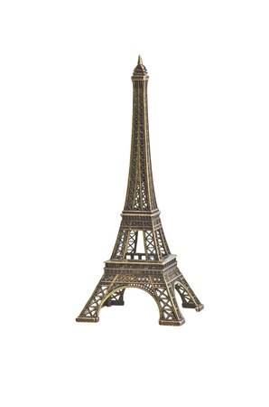 Eiffel Tower on the white background photo