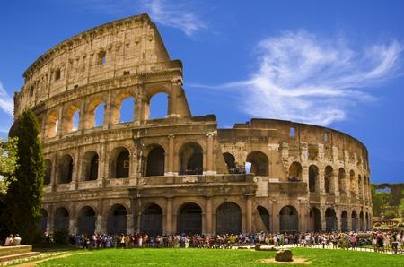 The Coliseum : Its original name, Flavian Amphitheatre Stock Photo