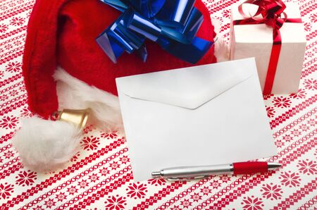 Letter for Santa Claus on the table photo