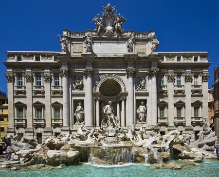 The Trevi Fountain (Italian: Fontana di Trevi) in Rome, Italy Imagens