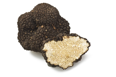 freshly harvested truffles  and sliced close up  Stockfoto