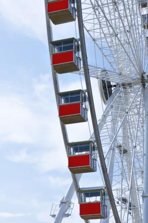 rimini: the giant ferris wheel in Rimini Italy