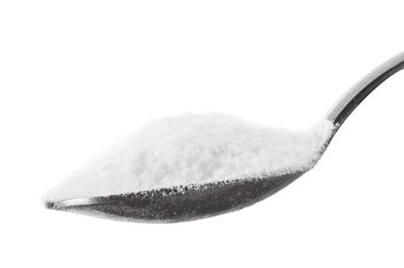 Iron spoon of baking soda close up  Stock Photo