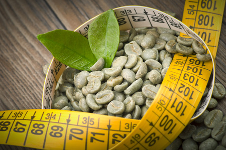 lose weight by drinking raw green coffee Stockfoto