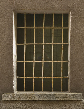 iron barred: Window Made of Iron Bar in a old country