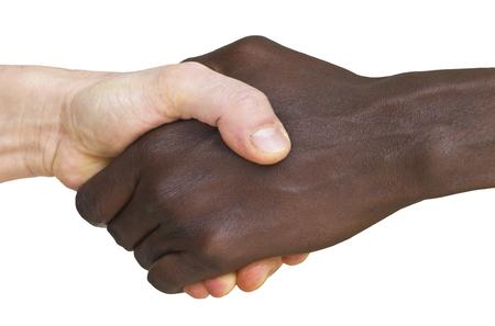 solidaridad: solidaridad para la gente de la inmigración, el apretón de manos