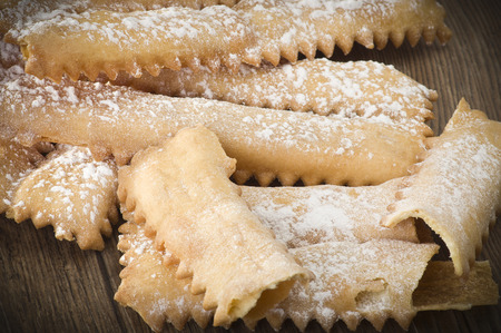 crostoli: Tipical italian cake Chiacchere for carnival partty