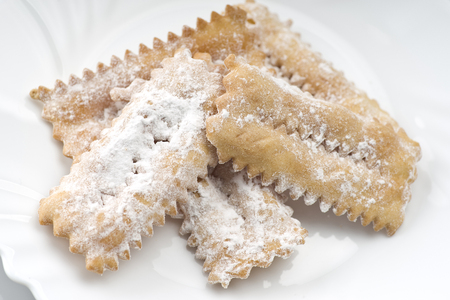 bugie: Tipical italian cake Chiacchere for carnival party Stock Photo