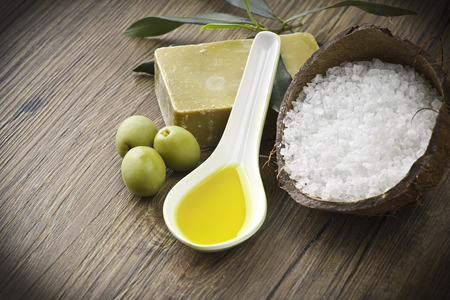 dafne: Soap and natural ingredients to olive oil Archivio Fotografico