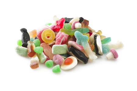 liquorice: group of colorful candy on the white Stock Photo