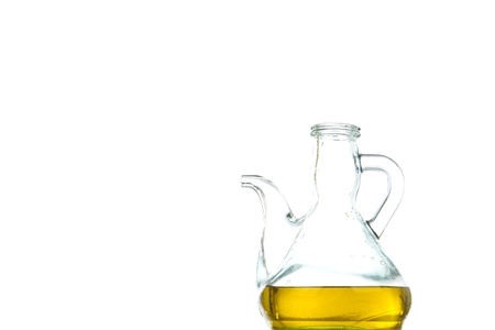 oilcan: Olive oil in oilcan with white background, product of Spain