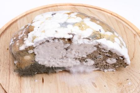 perishable: Toxic bread on a board Stock Photo