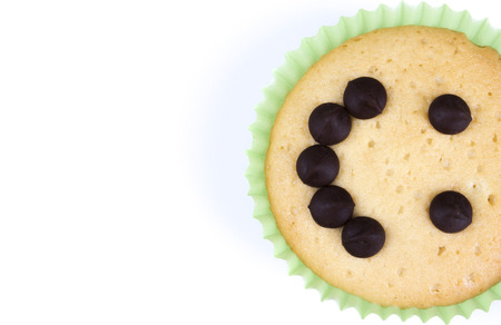 cancellous: Muffin smile with white background