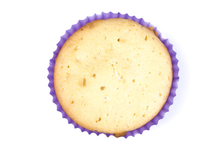 cancellous: Muffin from Top View Isolated on a White Background
