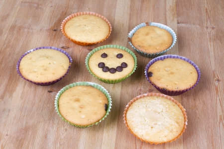 cancellous: Various muffins ready to eat Stock Photo