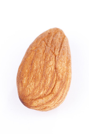 whitw:  A almond with whitw background Stock Photo