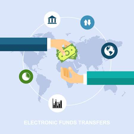 electronic banking: Electronic funds transfers Illustration