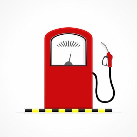 nozzle: Gas station pump with fuel nozzle Illustration
