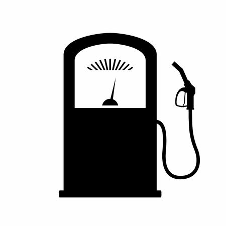 refueling: Vector silhouette of gas pump