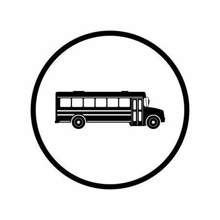학교 버스 아이콘입니다. 일러스트 벡터