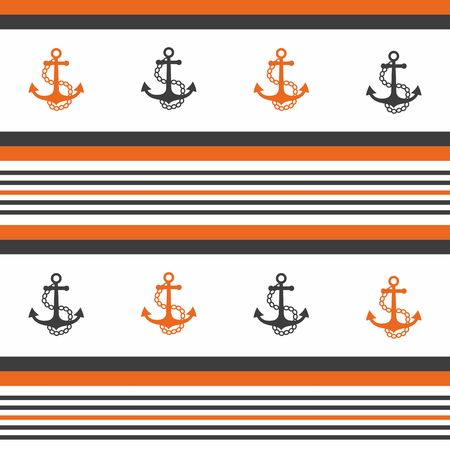 Hipster pattern background with anchor