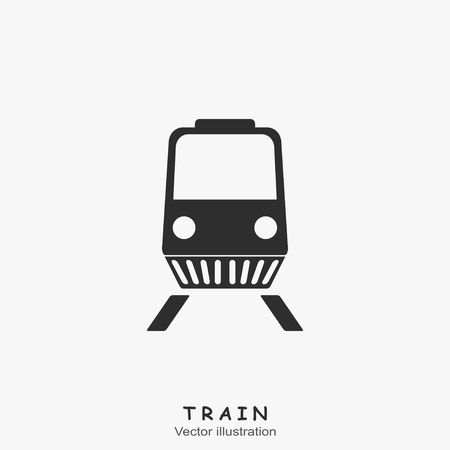 black train: Black Train Icon. Vector illustration
