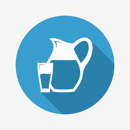 pitcher: Glass and Pitcher icon. Vector Illustration Illustration