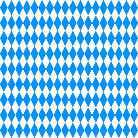 wiesn: Oktoberfest vector background with blue and white rhombus