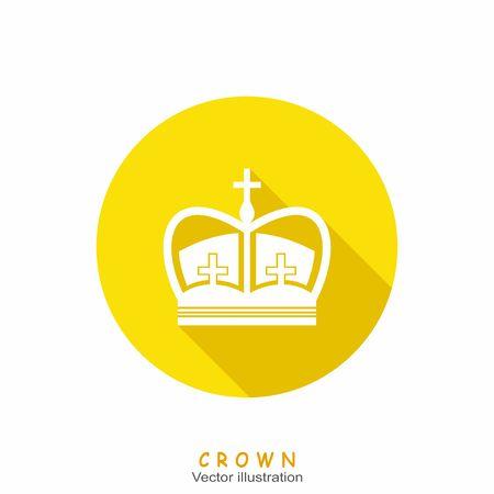 crown silhouette: Crown silhouette symbols. Icon vector illustration