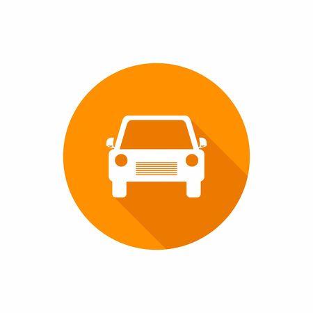 Auto platte pictogram. Vector illustratie Stock Illustratie