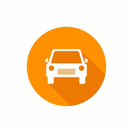 Car flat icon. Vector Illustration