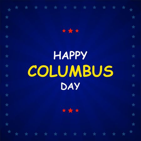 christopher columbus: Columbus Day on abstract background. Vector illustration