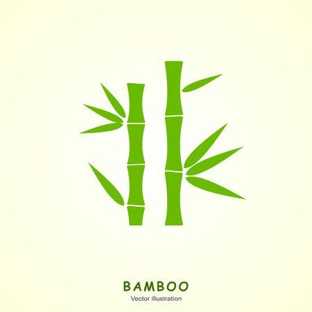 green bamboo: Green bamboo vector symbol icon.  Illustration