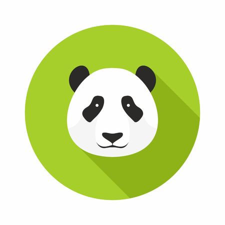 bear berry: Panda Head icon vector on a white background Illustration