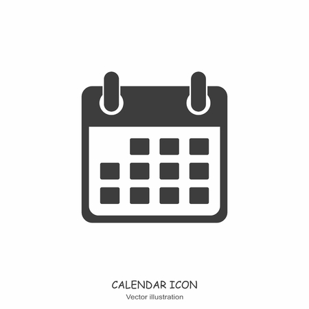 Calendar icon in Flat design style. Vector Illustration Иллюстрация