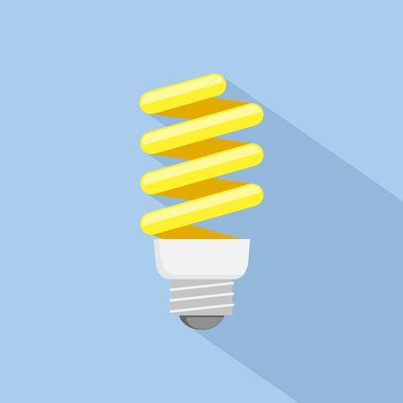 energy saving: Energy saving Light Bulb Icon. Flat style.