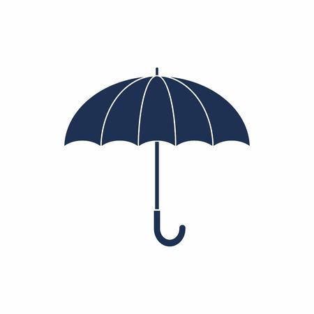 Umbrella sign Icon. Rain protection symbol. Flat design style.