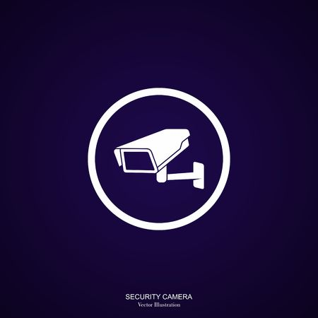 monitored: Video Surveillance Security Camera on a white background.  Illustration